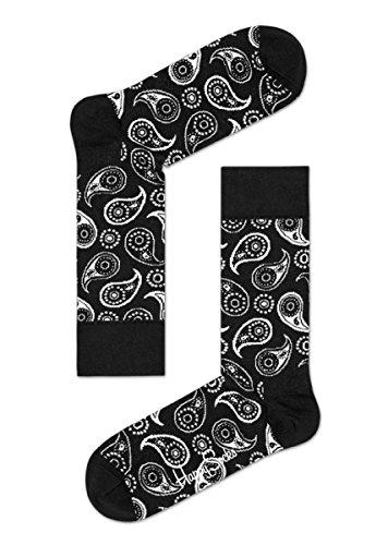 Happy Socks - Calze Paisley Sock - Black - S/M - 36/40