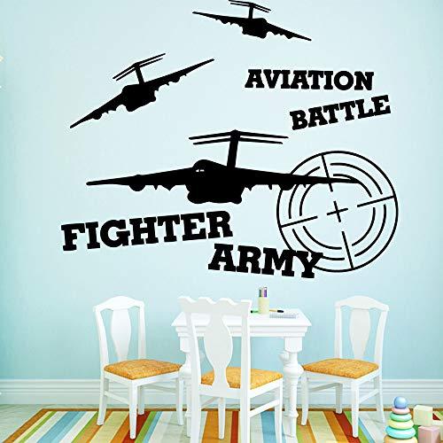 Fighter Army Selbstklebende Vinyl Wasserdichte Wandkunst Aufkleber Für Kinderzimmer Dekoration Kunstdekor Tapete XL 57 cm X 69 cm