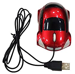 3D USB Optical Wired Mouse Car Shaped Mouse USB Wired Optical Computer Mouse Sport Racing Computer USB Mouse Mice for PC/Laptop & Desktop - 800 DPI