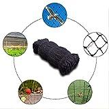 Adminitto88 Schwarzes Vogelschutznetz, Gartenteichnetz, Pflanzenschutznetz, Gartensperre, Flexibles Gartennetz, Maschenweite 1,5 X 1,5 cm, 5/15/25/30 M