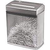 Hama Papierschredder Aktenvernichter (bis zu 7 Blatt, Kreuzschnitt, Schredder für Papier und Plastikkarten, Inkl. 14-Liter-Metallkorb) Shredder silber