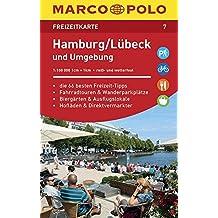 MARCO POLO Freizeitkarte Blatt 07 Hamburg, Lübeck und Umgebung 1:100 000: im Dispenser mit 10 Exemplaren (MARCO POLO Freizeitkarten)