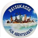 alles-meine GmbH Große XL Spardose -  Reisekasse - für Abenteurer  - Stabile Sparbüchse - aus..