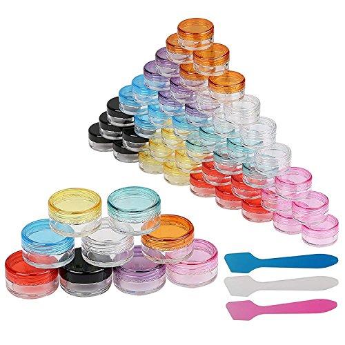 Zhongke Cosmétique Conteneur de Bijoux Mini Pots Voyage Bouteilles Set Bagages Crème Shampooing Parfum (5 ml / 45pack)