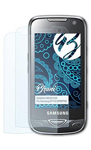 Bruni Samsung B7722i (GT-B7722) Folie - 2 x glasklare Displayschutzfolie Schutzfolie für Samsung B7722i (GT-B7722)