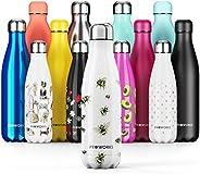 Proworks Botella de Agua Deportiva de Acero Inoxidable | Cantimplora Termo con Doble Aislamiento para 12 Horas