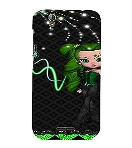PrintVisa Cute Animated Girl Butterfly 3D Hard Polycarbonate Designer Back Case Cover for Acer Liquid Jade Z630