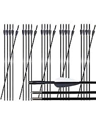Toparchery Bogen Pfeile 24er Fiberglaspfeile Übungspfeile Pfeile Bogenschießen 31 Zoll Pfeile für Bogenschießen ø 6 mm