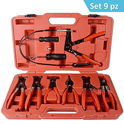 DP Design® Kit de 9pinces pour démontage colliers bornes de serrage manchons