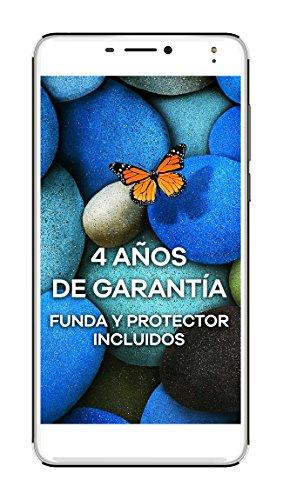 "Intex Aqua S9 Pro - Smartphone con pantalla de 5.5"" (1280x720, memoria interna de 16 GB, 2 GB de RAM, cámara de 13 MP, Android), color blanco"