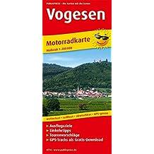 Vogesen: Motorradkarte mit Ausflugszielen, Einkehr- & Freizeittipps, wetterfest, reißfest, abwischbar, GPS-genau. 1:200000 (Motorradkarte / MK)
