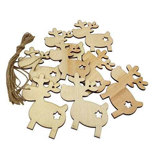 z Handwerk Ornament DIY Weihnachten Deer Rentier Weihnachten Hängende Dekoration (Gelb) (Rentier Weihnachten Ornamente)
