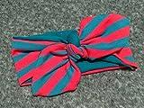 Haarband 'Rote Streifen' geknotet für Babys, Kleinkinder und Mamis *Handarbeit* (5 Größen verfügbar)