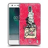 Head Case Designs Beach Cruiser Fahrrad Liebe Ruckseite Hülle für Nokia 2