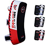 Farabi Thai Pad Kick Shield MMA Kickboxing Muay Thai Training Pad Arm Pad Strike Shield(Single Unit) (Red/Black)
