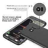 CE-Link für Samsung Galaxy S7 Edge Hülle Hardcase 3 in 1 Ultra Dünn 360 Full Body Schutz Schutzhülle Anti-Kratzer Elegant Stoßfest Hart PC Skin Rückdeckel Glatte Rückseite Bumper Handyhülle - Schwarz Vergleich