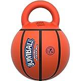 GiGwi 6338 Robustes Hundespielzeug Jumball Basketball mit Gummigriff, großer Hundeball / Spielball