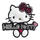 Aufnäher/Bügelbild - Hello Kitty Comic Kinder Reflex - pink - 5x5cm - by catch-the-patch® Patch Aufbügler Applikationen zum aufbügeln Applikation Patches Flicken