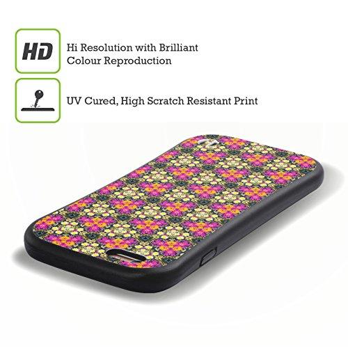Ufficiale WondrousCre8tions Margherita Porpora Collezione Floreale Geometrica Case Ibrida per Apple iPhone 7 Plus / 8 Plus Colori selvaggi In pizzo
