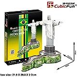 3D Puzzle Jesús estatua en Río de Janeiro Brasil Christ the Redeemer Jesus Statue Cubic Fun Christusstatue Statue Christus Brasilien Rio the Janeiro