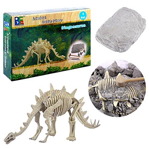 BANDRA Dinosaurier Fossil Dig Kit Archäologie Ausgrabungs-Kits für Kinder Jungen Parasaurolophus