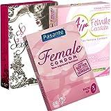 Der Kondomotheke® Ladies Mix - 3 Sorten Frauenkondome, latexfrei (AirFemale, Pasante, Terpan) - Probierset!