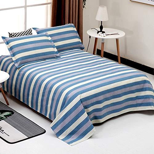 Baumwolle Alten groben Stoff dreiteilige grobe Laken Einzelstück kann den Ball jugendlich blau 200X230 groben Stoff dreiteiligen Satz Nicht leisten: geeignet für 1,5 m Bett
