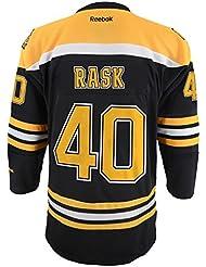 Tuukka Rask Youth Jeunes Boston Bruins NHL Reebok Black Replica Jersey
