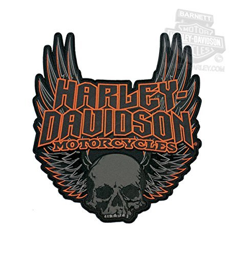Harley-Davidson Gothic Wings Skull 3X Patch