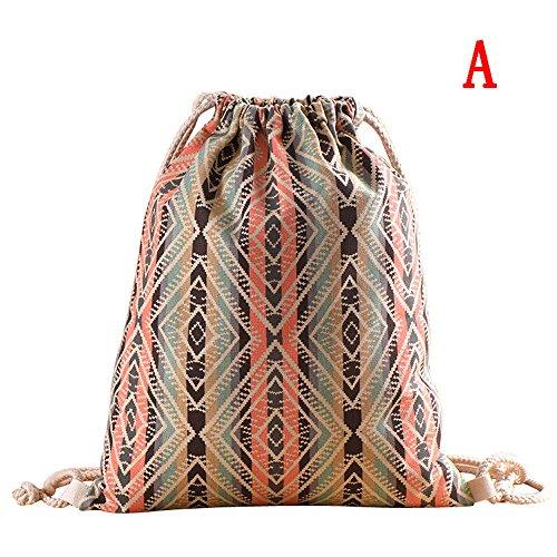 GiveKoiu-Bags - Mochilas para niñas, para la escuela, venta barata, moda para mujeres, impresión de bohemia, bolsa de cubo de alta capacidad, mochila bandolera, Mujer, 2019689, Multicolor01, Tamaño libre