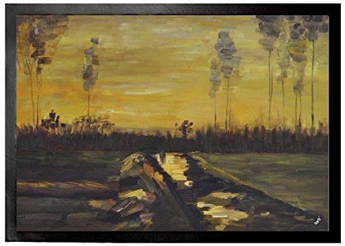 Vincent Van Gogh - Landscape At Dusk, 1885 Felpudo Alfombrilla (70 x 5