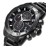 Orologio da uomo orologio di lusso moda uomo cronografo Business casual orologio sportivo impermeabile data Display orologio al quarzo