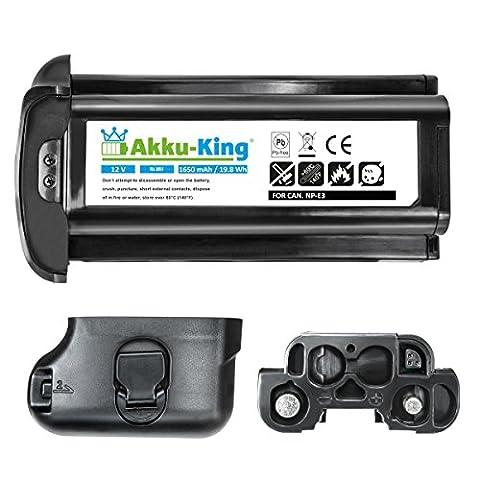Akku-King Akku kompatibel zu CAnon EOS 1D, EOS 1D Mark II, EOS 1D Mark II N, EOS 1DS, EOS 1DS Mark II - ersetzt NP-E3 - Ni-MH