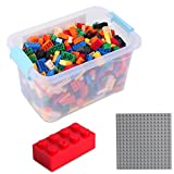 Katara 1827 - Set 520 Mattoncini 4x2 Base Scatola Compatibile Lego, Sluban, Papimax, Q-Bricks - Multicolore