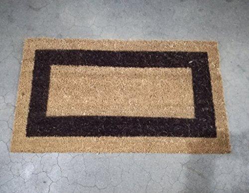 Felpudo hogar antideslizante 40x70 sencillo banda negra
