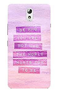 Back Cover for Lenovo Vibe P1 Be Who You Are