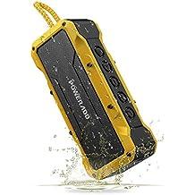 POWERADD Enceinte Bluetooth Portable 36W Basse de Son Puissante, Haut-Parleur IPX7, Musique de 24H, Grande Capacité pour la Fête, Piscine, Camping, Voyage et des Vacances - Jaune
