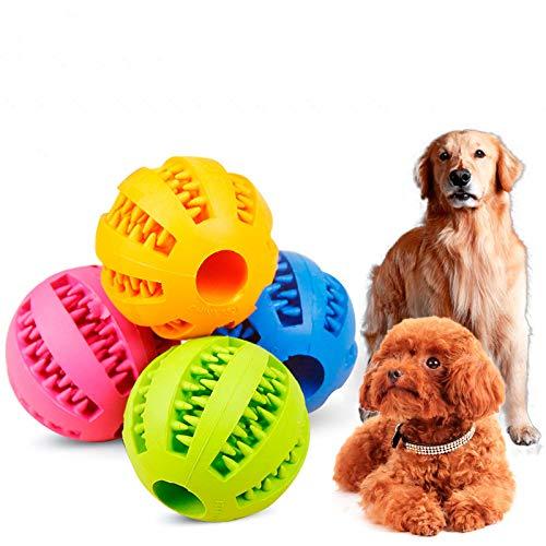 Romote 1Pc Blau Hund Spielzeug Interactive Gummibälle Haustier Hund Katze Welpen kauen Spielzeug Kugel Zähne Kauspielzeugen Zahn-Reinigungs-Food-Balls Hond Spel