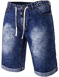 Tomsent 2017 Moda Hombre Casual Pantalón Jeans Pantalones Cortos de Mezclilla Clásico Cintura Elástica Vaquero Shorts Men Pants