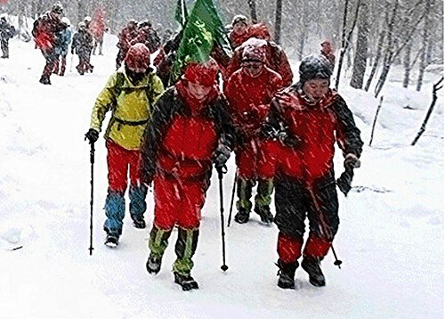 Blancho Outdoor Thickening Hiking Gaiters Snow Boot Gaiters Leg Gaiters, Red, 17.7''