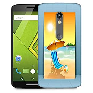 Snoogg abstract summer background Designer Protective Back Case Cover For Motorola Moto G4