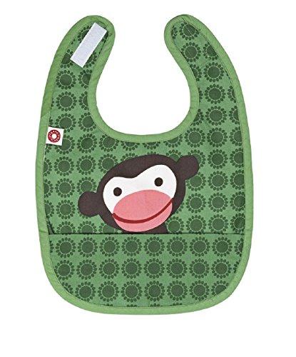 FRANCK FISCHER - Bavaglino con scimmia verde, tessuto, 1501-2003