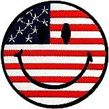 sonriente EE.UU. América Bandera Ejército Patch '7.5 x 7.5 cm' - Parche Parches Termoadhesivos Parche Bordado Parches Bordados Parches Para La Ropa Parches La Ropa Termoadhesivo Apliques Iron on Patch Iron-On Apliques