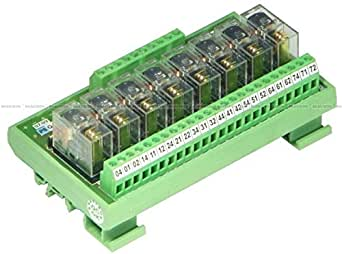 Shavison Relay Module AS355-24V-N-OE, 1C/O, 8 Channel, 24VDC Coil, OEN Relay, Reverse Blocking Diode, Directly Soldered Relay, -Ve Looped Coils, Contact Rating : 28VDC/230VAC, 5A