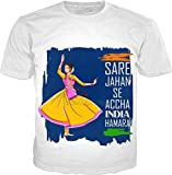 100ANB - FLAG - INDIA - female - 2 dancer dancing on culture of india colorful typographic - A3 - COUNTRY FESTIVAL DEMOCRACY CULTURE RELIGION - GRAPHI