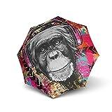 Doppler Modern Art Magic Mini Monkey Regenschirm Umbrella Schirm mit Doppel Automatik 74615707