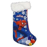 Graziosa calza per la befana del famosissimo personaggio di Spiderman. La calza completamente in pail riporta sulla parta anteriore l'immagine stampata; nella parte superiore è presente una fascia in peluche . Composizione:100% Poliestere Dim...