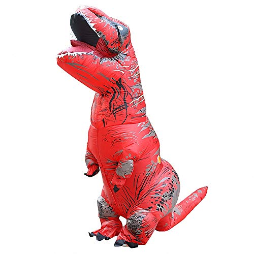 CBA BING Aufblasbare Kostüm-Dinosaurier-Kleidung-Spaß-Maskerade-Kleider, Bogen-Drache-Kostüm-Dinosaurier-aufblasbares Kostüm-bunter Erwachsener,Rot (Rot Dinosaurier Kostüm)