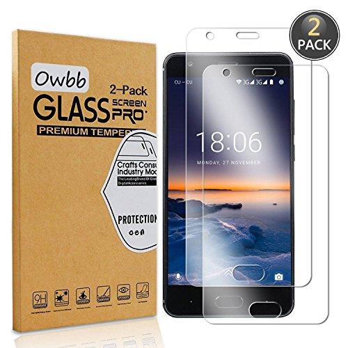 Owbb [2 Stück] Gehärtetes Glas Bildschirm schutzfolie Für Doogee X20/X20L Smartphone Schutz 99% High Transparent Explosionsgeschützter Film