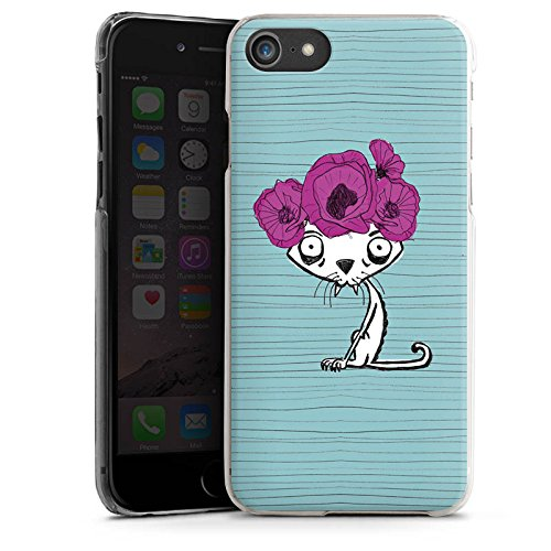 Apple iPhone X Silikon Hülle Case Schutzhülle Ugly Fashion Cat Katze Blumen Hard Case transparent